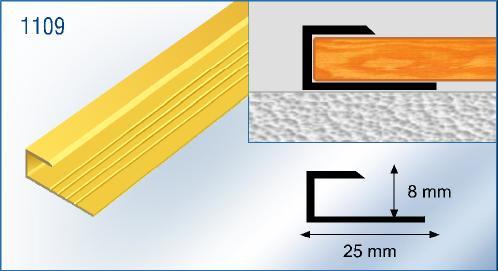 Arr t de bordure aluminium stratifi profil d 39 ancrage for Passage de porte parquet flottant